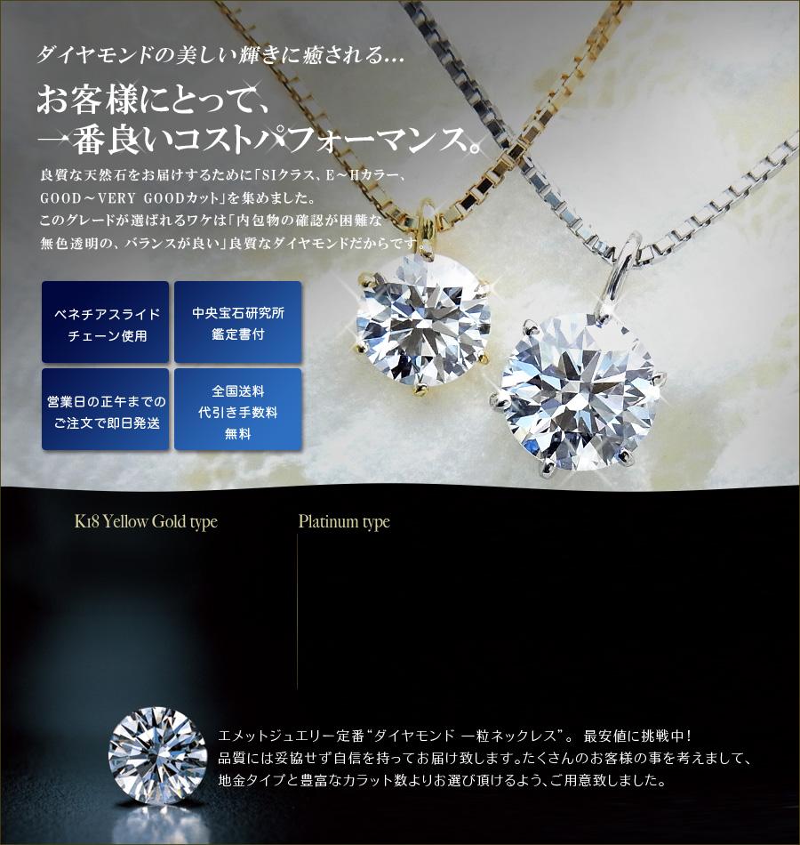 ダイヤモンドネックレス SI-G-GOODup